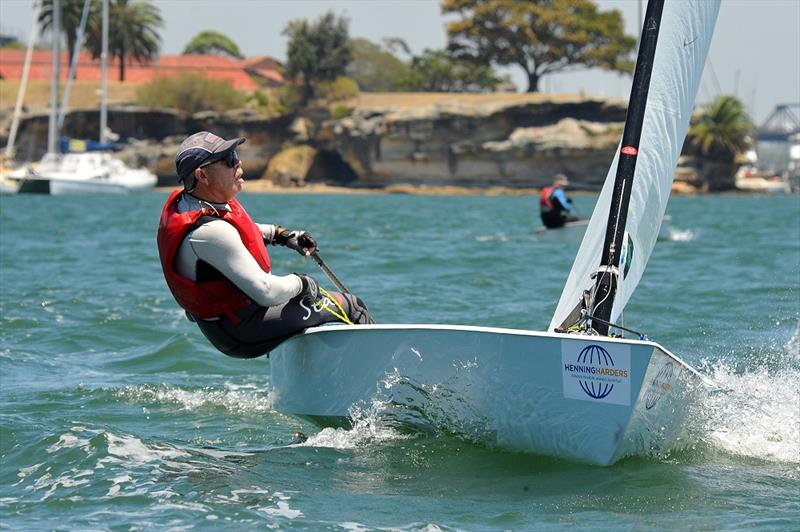 Runner up Mark Skelton on the final day of the Australian OK Nationals photo copyright Bruce Kerridge taken at Drummoyne Sailing Club and featuring the OK class