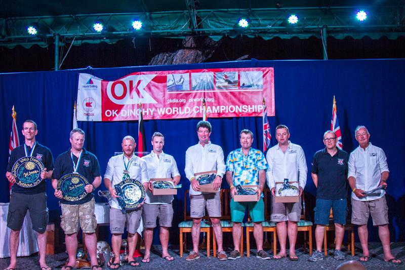 2017 OK Dinghy Worlds prize giving - photo © Alastair Deaves