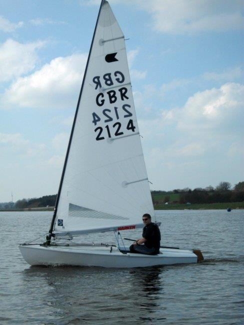 Will Croxford from South Staffs winning the best improved award during the OK Inlands photo copyright Phil Mason taken at Blithfield Sailing Club and featuring the OK class