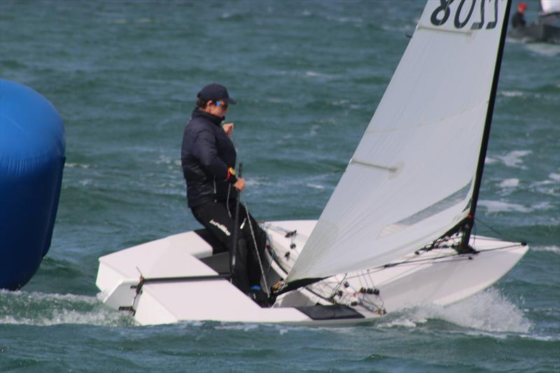 Nick Craig on his way to a win during the OK Nationals at Abersoch photo copyright Peter Hawkins / SCYC taken at South Caernarvonshire Yacht Club and featuring the OK class