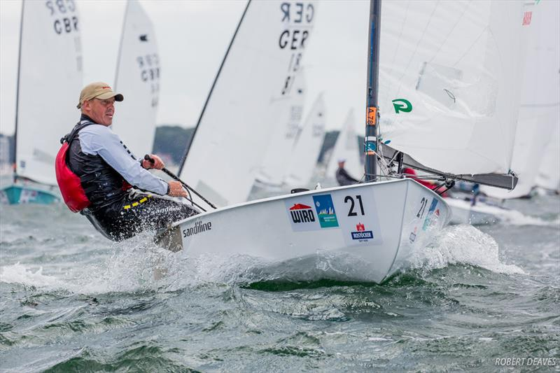 Bo Petersen on day 1 of the OK Dinghy World Championship - photo © Robert Deaves