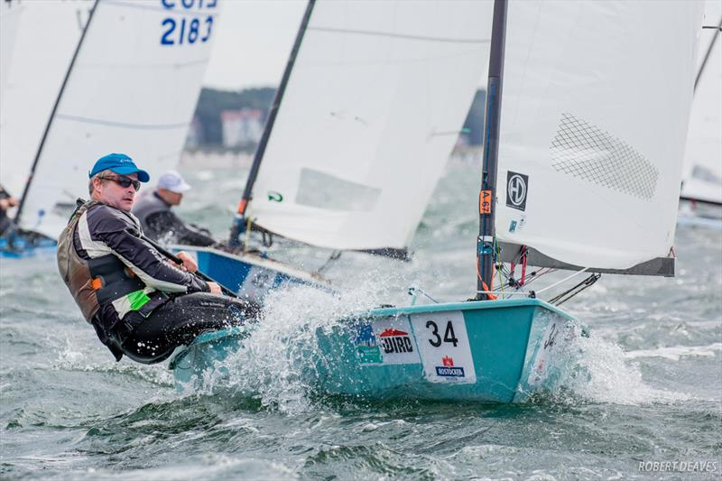 Jim Hunt on day 1 of the OK Dinghy World Championship - photo © Robert Deaves