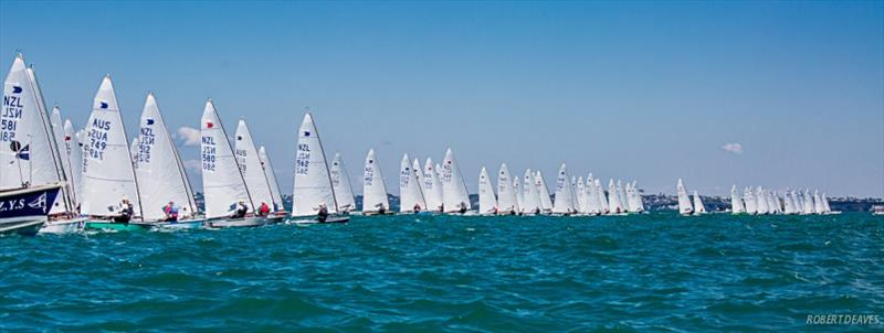 Race 2 start - Symonite OK Worlds, Day 2 - photo © Robert Deaves