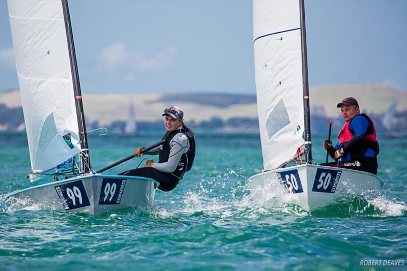 Olivia Christie is the leading woman in 58th overall - Symonite OK Dinghy Worlds, Day 3 photo copyright Robert Deaves taken at Wakatere Boating Club and featuring the OK class