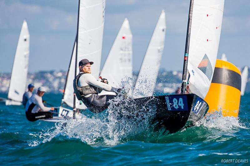 Andrew Phillips - Symonite OK Dinghy Worlds, Day 4 - photo © Robert Deaves