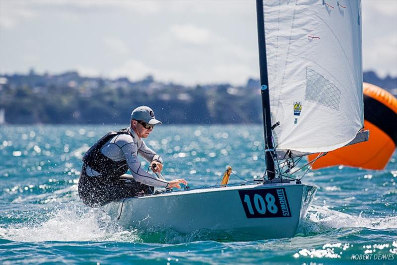 Josh Armit sailed a 35 year old Icebreaker into third place - 2019 Symonite OK Dinghy World Championship - photo © Robert Deaves