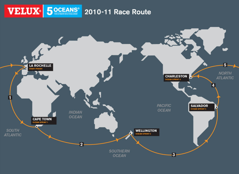 Race route announced for VELUX 5 OCEANS 2010-211