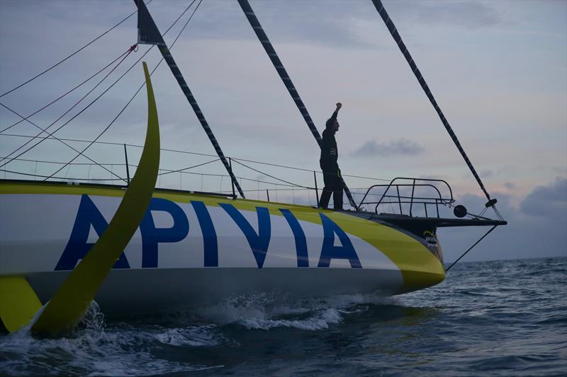 Charlie Dalin on Apivia finishes second in the Vendée-Arctique-Les Sables d'Olonne Race - photo © Eloi Stichelbaut - polaRYSE / IMOCA