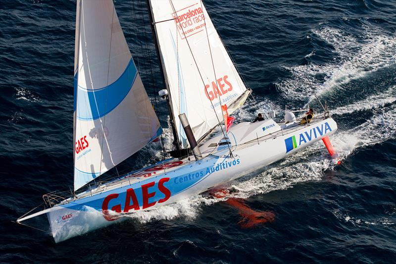 GAES Centros Auditivos 2010-2011 was the first feminine duo at the Barcelona World Race photo copyright Barcelona World Race taken at Fundació Navegació Oceànica Barcelona and featuring the IMOCA class