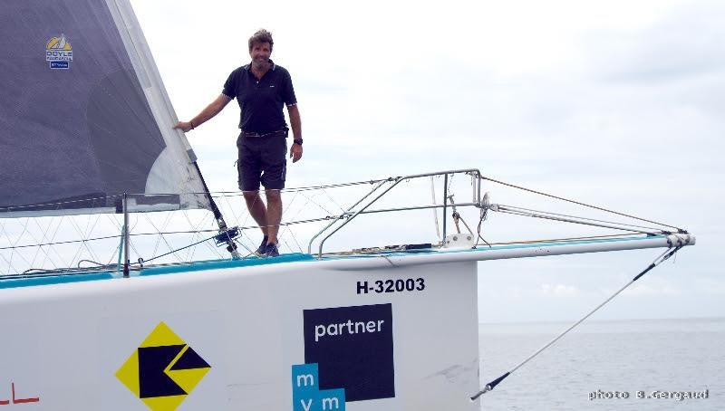 Belgian skipper Denis Van Weynbergh photo copyright B. Gergaud / EyeSea taken at  and featuring the IMOCA class