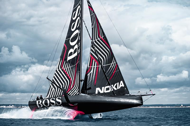Hugo Boss is Alex Thomson's ride for the next Vendee Globe Race, and also the two-handed Transat Jacques Vabre photo copyright Alex Thomson Racing taken at Portsmouth Sailing Club and featuring the IMOCA class