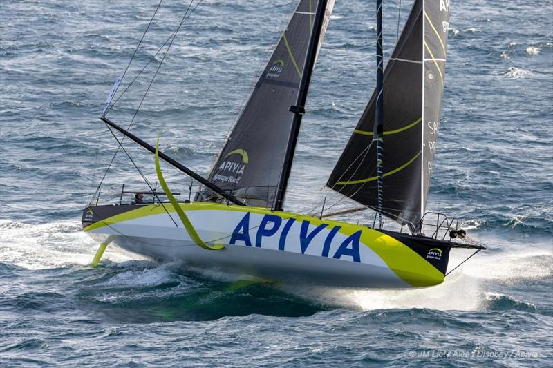 Apivia was the first IMOCA60 to finish in the 2019 Transat Jacques Vabre - photo © Jean-Marie Liot / Alea / Apivia