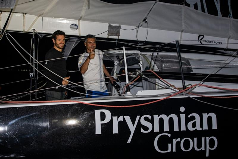 Prysmian Group skippers Giancarlo Pedote and Anthony Marchand take 17th place of the Imoca category of the Transat Jacques Vabre photo copyright Jean-Marie Liot / Alea taken at  and featuring the IMOCA class