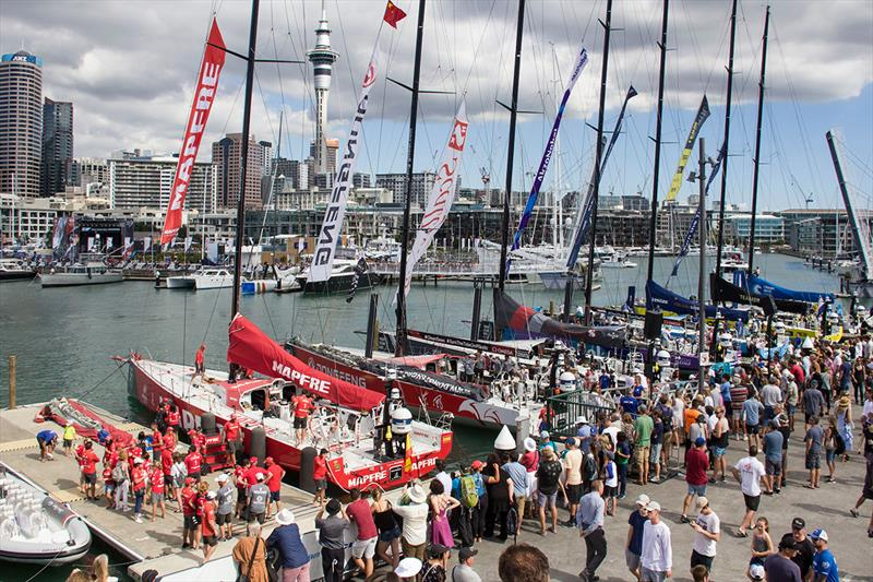 Auckland Stopover. In-Port Race. Race Village.  photo copyright Ainhoa Sanchez / Volvo AB taken at  and featuring the IMOCA class