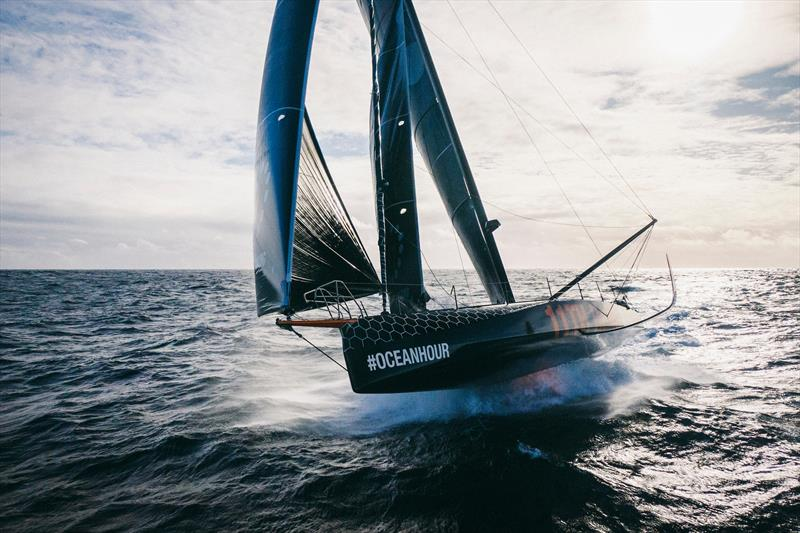 11th Hour Racing Team delivers theIMOCA60 back to France after the Transat Jacques Vabre race, with an Ocean Race configuration of six onboard. - photo © Amory Ross | 11th Hour Racing
