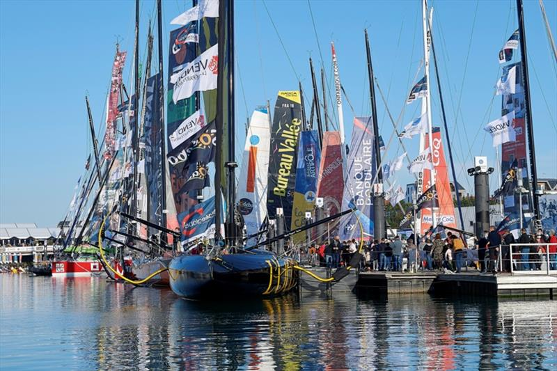 Boats at pontoons are illustrated during the Vendee Globe prestart in les Sables d'Olonne, France, on October 22, 2020 - photo © Yvan Zedda / Alea