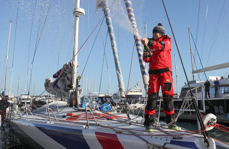 Vendee Globe: Pip Hare returns home to Poole photo copyright Tracy Payne taken at  and featuring the IMOCA class