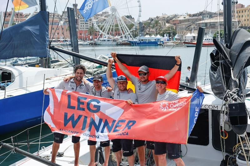 Offshore Team Germany hold their nerve to claim IMOCA class victory in The Ocean Race Europe Leg 3