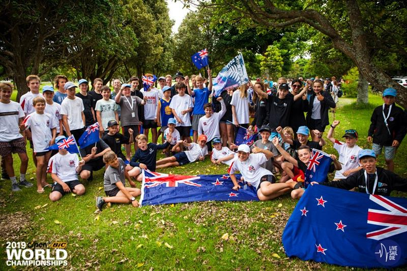 Kiwi team - Opening Ceremony for the 2019 O'Pen Bic World Championships hosted by Manly Sailing Club.  - photo © Live Sail Die