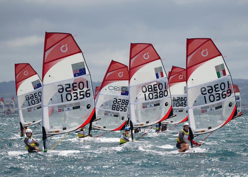 From the Slalom course - Day 4 - 2019 O'Pen BIC Worlds, Manly Sailing Club - photo © Denis Garner