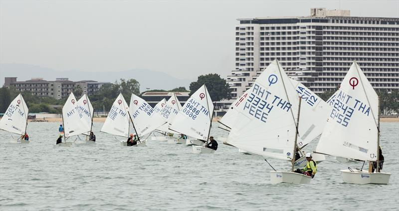 Optimists on day 1 of the 2017 Top of the Gulf Regatta - photo © Guy Nowell