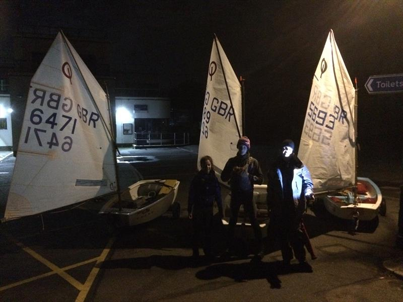 Three Optimist sailors break the record for sailing round the Isle of Wight - photo © Tim Davies / Mark Lance