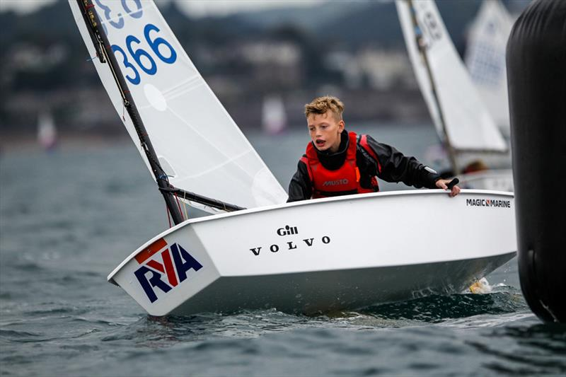 Finley Hartshorn wins the Optimist Fleet in the South West during the RYA Zone and Home Country Championships - photo © Paul Wyeth / RYA