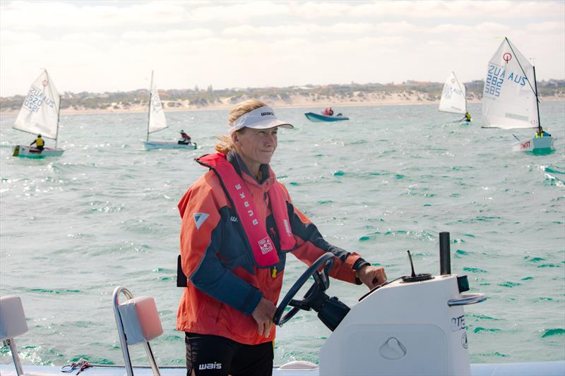 420 Olympic gold medalist and WA Institute of Sport head sailing coach Belinda Stowell was one of five coaches at Hillarys first Easter Dinghy Coaching Regatta - photo © Verma Vitales