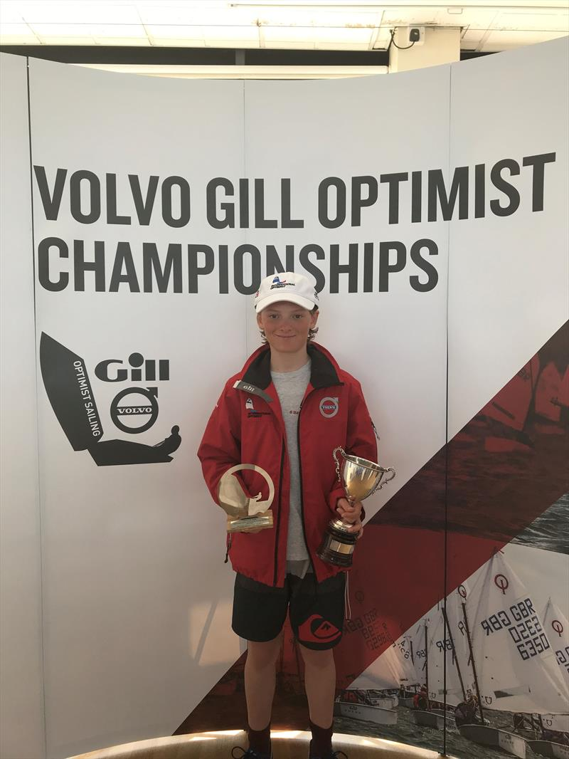 Will Pank wins the Optimist Selection Trials at the WPNSA for the second year running - photo © IOCA UK