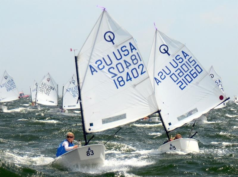 The USA Junior Olympic Sailing Festival at Pensacola Yacht Club June 29-July1 offers racing in Laser classes, Club 420's and International Optimist Dinghies - photo © Talbot Wilson