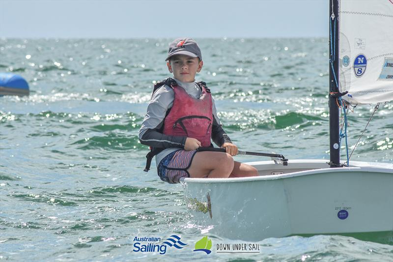 Darcy Higgins finished second in the Optimist Open fleet - 2019 South Australian Youth Championships - photo © Harry Fisher