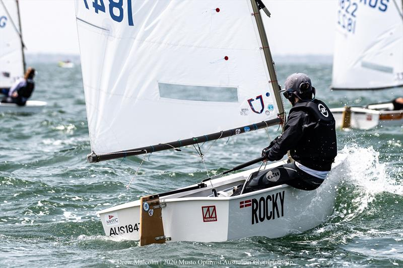 Will Wilkinson from Middle Harbour racing in the Open fleet - 2020 Musto Optimist Australian and Open Championship - photo © Drew Malcolm