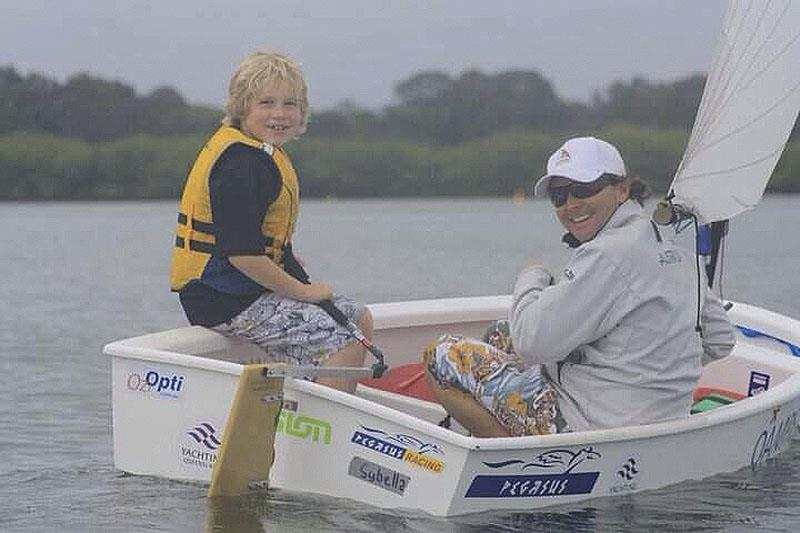 Noosa River coaching a friend's child  - photo © Adrian Finglas