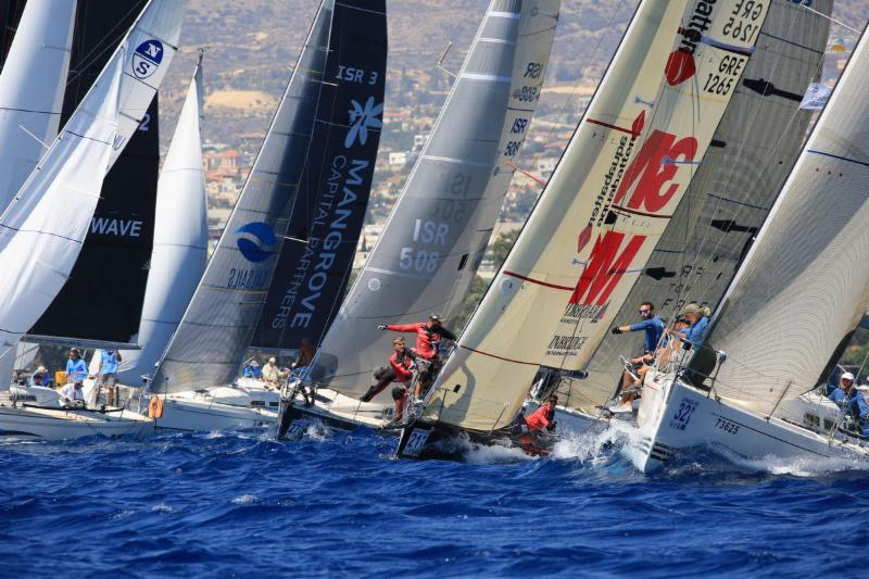 Like Class AB, starts in Class C were contentious as well in the big breeze - 2018 ORC European Championship - photo © Nikos Pantis