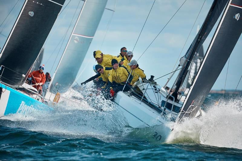 Two teams from Estonia, Postimees (left) and Sugar (right), power through today's Baltic bump to hold their lane in Class C - SSAB ORC European Championship 2019 photo copyright Felix Diemer taken at  and featuring the ORC class