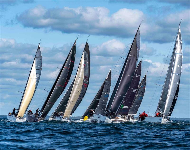 The racing in Class B was tight, with little room available on the short reach to the offset mark - SSAB ORC European Championship 2019 photo copyright MarcS taken at  and featuring the ORC class
