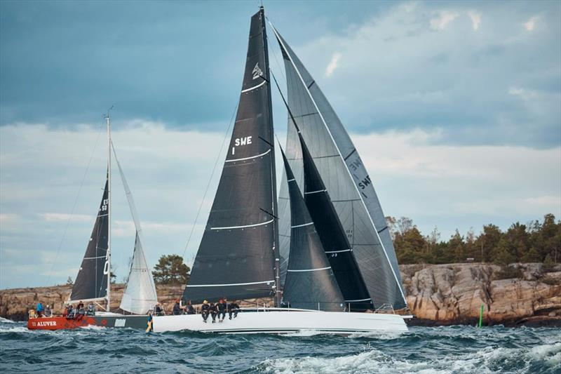 Lady Killer showing the perfect combination of staysails and Headsail set Flying to win the Sprint Race - SSAB ORC European Championship 2019 photo copyright Felix Diemer taken at  and featuring the ORC class
