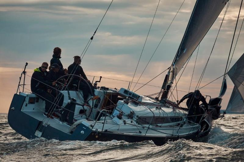 Katariina II flying her A0 on the final reach into the sunset - 2019 SSAB ORC European Championship photo copyright Felix Diemer taken at  and featuring the ORC class