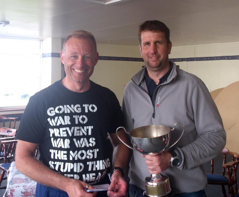 Gareth Caldwell and Jon Gibbons win the Osprey Welsh and Midlands Championships at Blithfield photo copyright Alastair Barrie taken at Blithfield Sailing Club and featuring the Osprey class