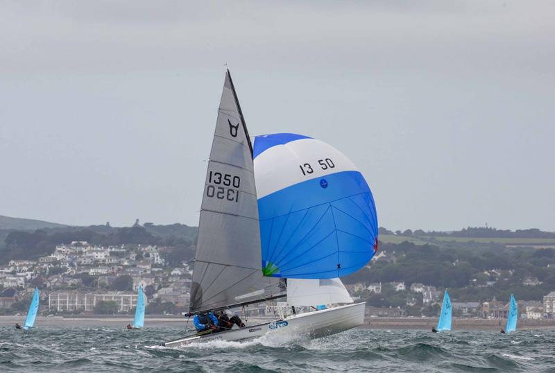 Alec Mamwell and Arthur Butler during the 2019 Osprey Nationals at Mount's Bay photo copyright Tim Olin / www.olinphoto.co.uk taken at Mount's Bay Sailing Club and featuring the Osprey class