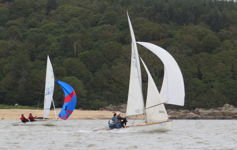 The leading Osprey of Gaughan & Metcalfe ahead of the Flying Fifteen of Train & Stewart during the Catherinefield Windows RNLI Regatta in Kippford - photo © John Sproat
