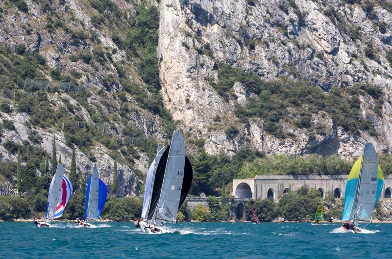 VX One racing at Lake Garda - photo © Ovington Boats