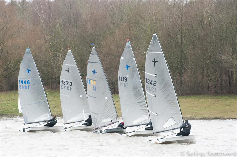 7 strong fleet of Phantoms won by Simon Hawkes (1454) during the Sutton Bingham Icicle: SSW Winter Series Round 8 - photo © Lottie Miles