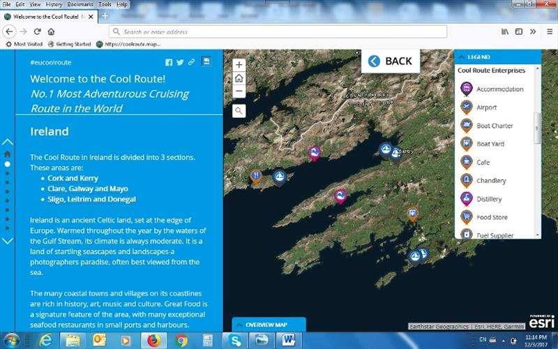 A screen grab shows how the system will highlight registered enterprises photo copyright sailcoolroute.eu taken at  and featuring the Power boat class