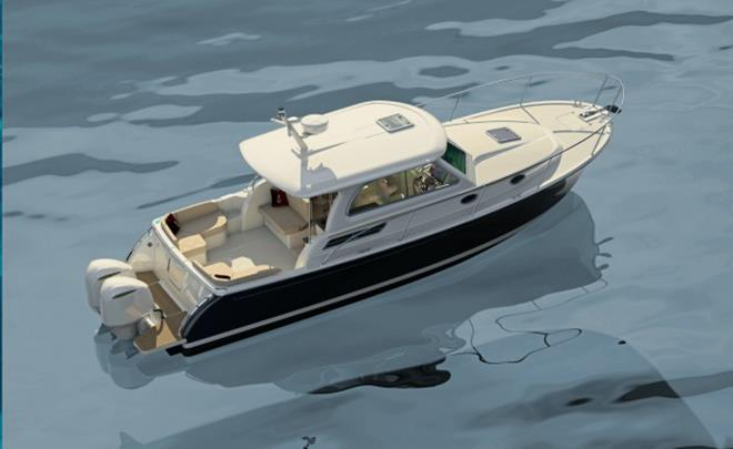 Maine builder Back Cove planning its first outboard-powered