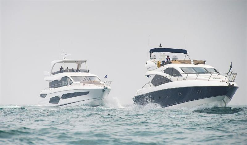 Parade of new and classic Sunseeker boats photo copyright Sunseeker International taken at  and featuring the Power boat class