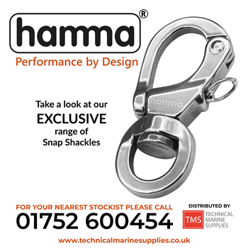 Technical Marine Supplies - Hamma - 17-4PH High Tensile Stainless Steel Snap Shackles
