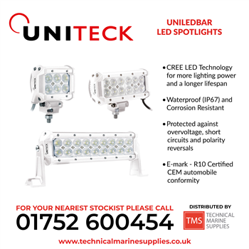 Technical Marine Supplies - Uniteck - Uniledbar LED Spotlights