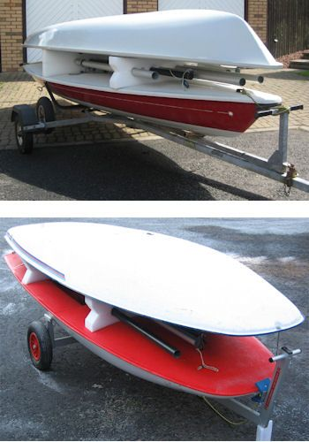 TridentUK Dinghy Stacker For Towing - Laser or Topper