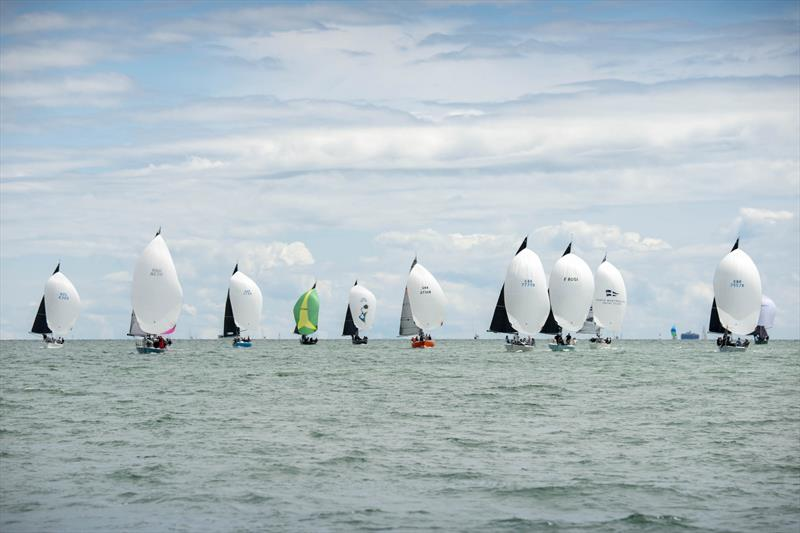 A spectacular sight as the Quarter Ton Cup fleet race downwind on day 2 of the Quarter Ton Cup - photo © Waterline Media